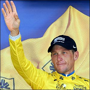 Lance Armstrong retains the Yellow Jersey