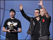 U2 at the Grammy Awards
