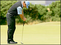 Faldo rues another missed putt on Saturday