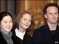 Lee Young-ae, Charlotte Rampling and Matthew Barney