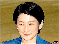 Japanese Princess Kiko, wife of Emperor Akihito's second son Prince Akishino smiles upon her arrival at the meeting on tuberculosis control in Tokyo, 08 February 2006.