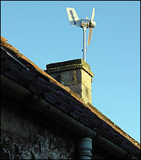 Turbine on house