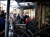 Scene from the carnage in the town of Musayyib