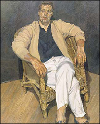 Man in a String Chair, by Lucian Freud