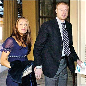 Rachel and Andrew Flintoff arrive at Buckingham Palace