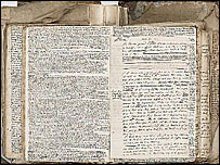 Dr Robert Hooke script (courtesy of Bonhams)