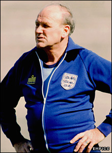 Ron Greenwood, pictured coaching England