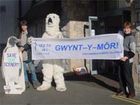Gwynt y Mor supporters