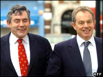 Gordon Brown and Tony Blair.  Image: AFP/Getty
