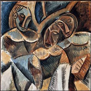 Pablo Picasso, Tres figuras debajo de un árbol.