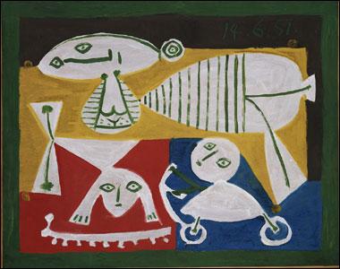 Pablo Picasso, Madre y niños jugando, 1951