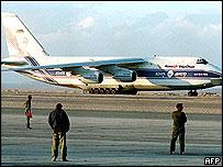 File photo of a Russian-made Antonov plane
