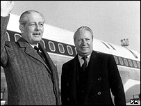 Prime Minister Harold MacMillan with Sir Edward Heath in 1963