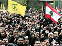 Tens of thousands of Shia Muslims in Beirut turn an Ashura rally into a protest