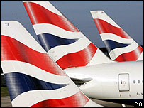 BA tail fins at Heathrow