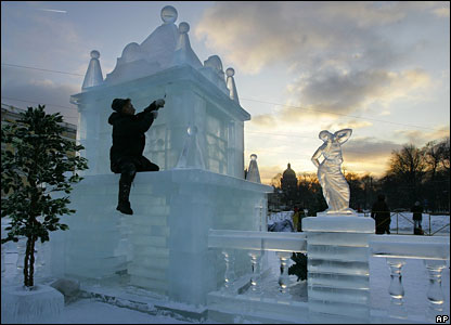 Completion of St Petersburg ice palace