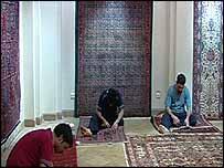 Persian carpet makers