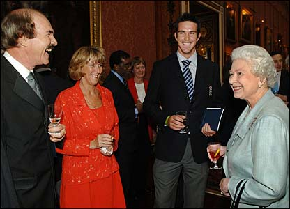 Kevin Pietersen's parents talk to the Queen