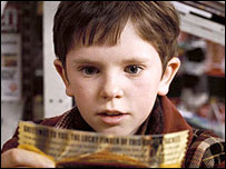 Freddie Highmore as Charlie Bucket in Charlie and the Chocolate Factory