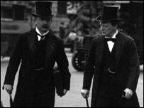 Lloyd George and Winston Churchill in 1910