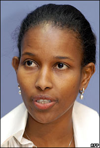 Somali-born Dutch MP Ayaan Hirsi Ali