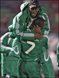 Nigerian players celebrating