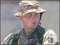 A British soldier in Basra
