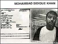 Mohammad Sidique Khan, pictured at Karachi airport November 2004