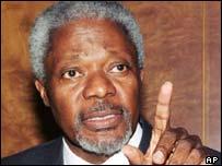 UN Secretary General Kofi Annan, AP