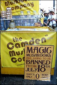 Magic mushrooms on sale in Camden on eve of the ban