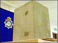 Police reconstructed the concrete block in 2003