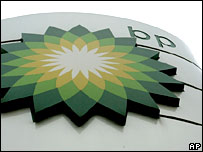 BP logo at petrol station.  Image: AP