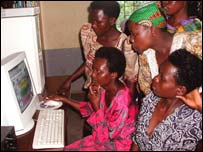 Image of people using the net