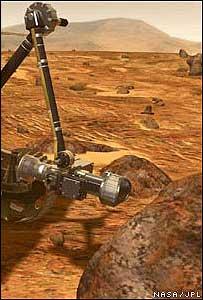 El Spirit en Marte