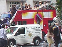 The aftermath of the Tavistock Square bus bombing