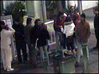 Police CCTV footage of the moment before the attack