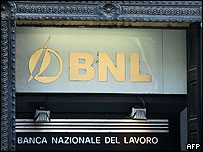 Front of BNL branch in Rome