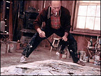 Ed Harris as Jackson Pollock in movie Pollock