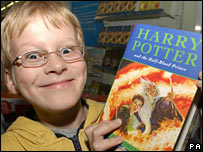 Alex, aged 9, gets his hands on the new Harry Potter book