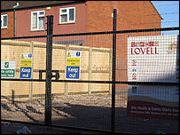 Lovell building site in Crumlin Drive