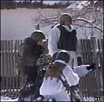 Russian special forces in Tukui-Mekteb village