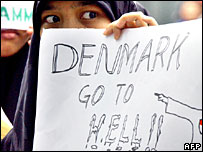Anti-Danish protest in Jakarta