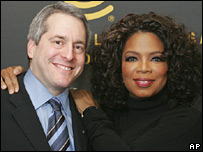 XM Chief Executive Officer Hugh Panero and Oprah Winfrey