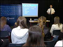Police speak to Shawlands Academy pupils about gangs - Picture from Strathclyde Police