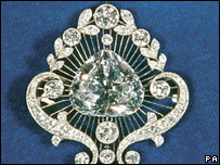 The Cullinan V Heart Brooch