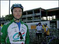 BBC Sport's John Sinnott on his ride in the Pyrenees