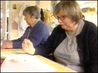 Patients at the Headway centre