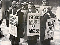 Pension protestors from 1938