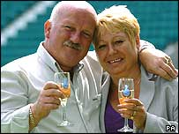Lottery winner Alec Fraser with wife Sandra