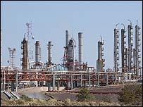 La refinería de Minatitlan, Veracruz